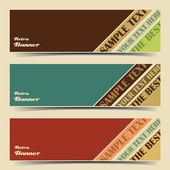 Banner set — Stock Vector