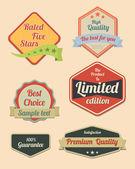 Retro design label set — Stock Vector