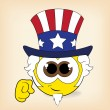 Stock Vector: Uncle Sam smiley