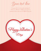 Valentines Day card design — Vector de stock