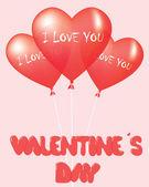 バレンタインの日カードのデザイン — ストックベクタ
