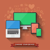 Favorite device — Stock Vector