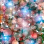Christmas tree lights bokeh — Stock Photo