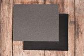 Sandpaper On wooden — Stock Photo