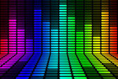Equalizer rainbow Signal — Stock Photo