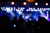 Concert lights bokeh — Stock Photo