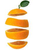Cut oranges — Stock Photo
