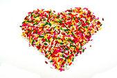 Rainbow sugar topping — Stock Photo