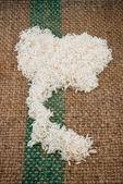 Thailand on rice sacks — Stock Photo