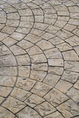 Block Paving Old grey pavement in a pattern texture — Stock Photo