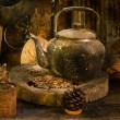 Kettle antique lamps in storage — Stock Photo