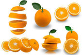 Cut oranges — Stock Photo
