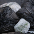 Garbage bags — Stock Photo