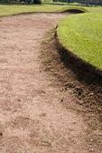 Hole sand golf course — Stock Photo