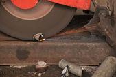 Grinder Steel Industry — Foto Stock