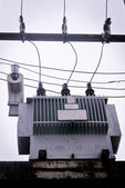 Three-phase 110 KVA transformer in Thailand — Stock Photo