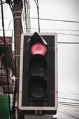 红光的道路上 — 图库照片