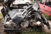 Total car crash smash accident — Stockfoto