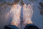 Foten blöt — Stockfoto