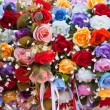 Stock Photo: Colorful fake flowers