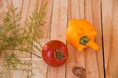 Eggplant with Tomato Yellow — Stock Photo