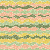 Abstract seamless background. yellow, orange, green waves. pastel color. — Stock Vector