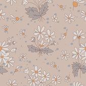Plynulé textury s obrázky květin. — Stock vektor