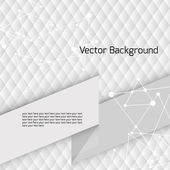 White geometric pattern with triangles and place for text — Stock Vector