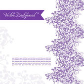 Postcard or a vignette for the text of lilac violet branches. space for text — Vettoriale Stock