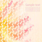 Abstract background of the triangles. pink, yellow color. space for text. light background — Stock Vector