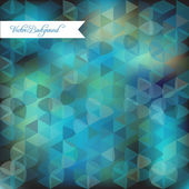 Abstract background triangles from a dark turquoise blue background — Stock Vector