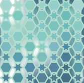 Vector abstract background of the hexagon and the star. Pastel blue water color. Put the text on top. The effect of blurred background — Stock Vector