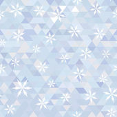 Triangle and snowflake — Vettoriale Stock