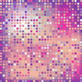Pink square, mosaic effect — Stock Vector
