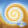Background with triangles. illusion vortex — Stock Vector #40240847