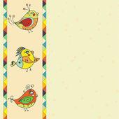 Pozadí s ptačí parrot — Stock vektor