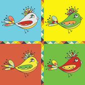 фон с птица попугай — Cтоковый вектор