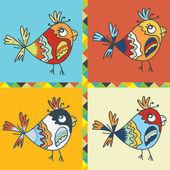 Tło z papuga ptak — Wektor stockowy