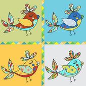 Fundo com papagaio pássaro — Vetorial Stock