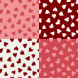 Seamless textures of hearts Valentine's day — Stock Vector
