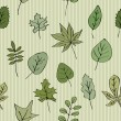 Green leaves striped background — Stock Vector