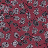 Pattern with fir cone and twig — Cтоковый вектор