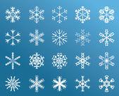 Snowflakes Winter — Stock Vector