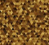 Triangle imitation gold — Stock Vector