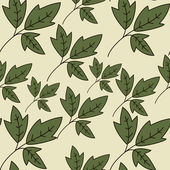 Floral texture with green leaves — Vecteur