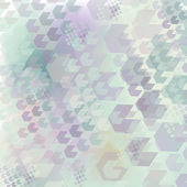 Neutral geometric pattern of hexagon — Stock Vector