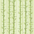 Stock Vector: Green bamboo with stripe
