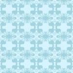 Neutral floral ornament. cool blue — Vetor de Stock  #40950679