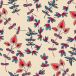 Abstract floral pattern — 图库矢量图片