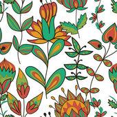 Textura sem costura com flores — Vetor de Stock